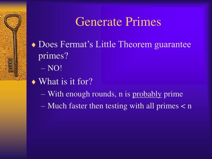 Generate Primes