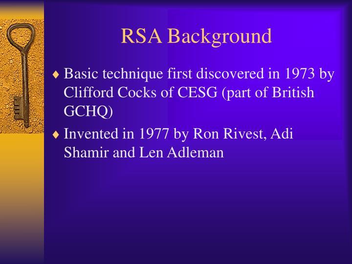 RSA Background
