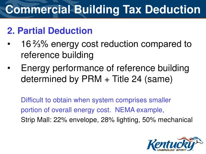 Commercial Building Tax Deduction