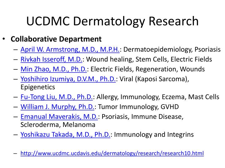 UCDMC Dermatology Research