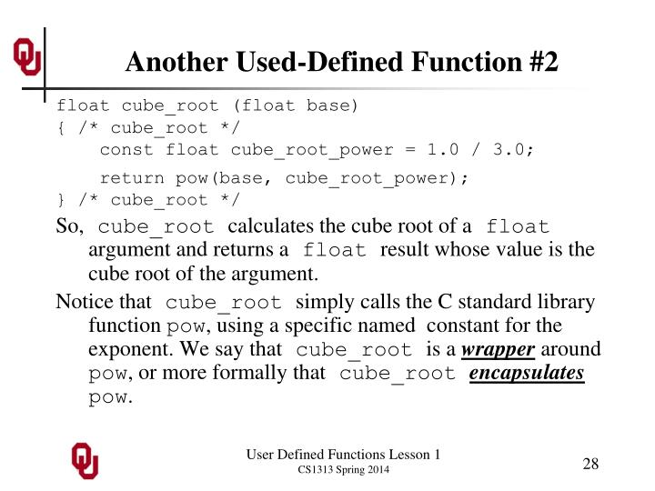 Another Used-Defined Function #2