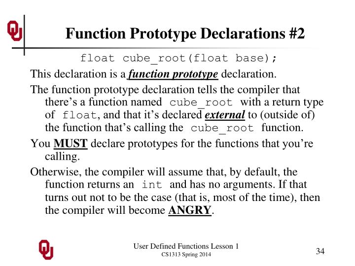 Function Prototype Declarations #2