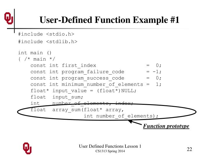 User-Defined Function Example #1