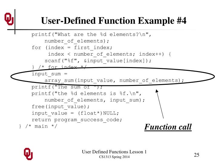 User-Defined Function Example #4
