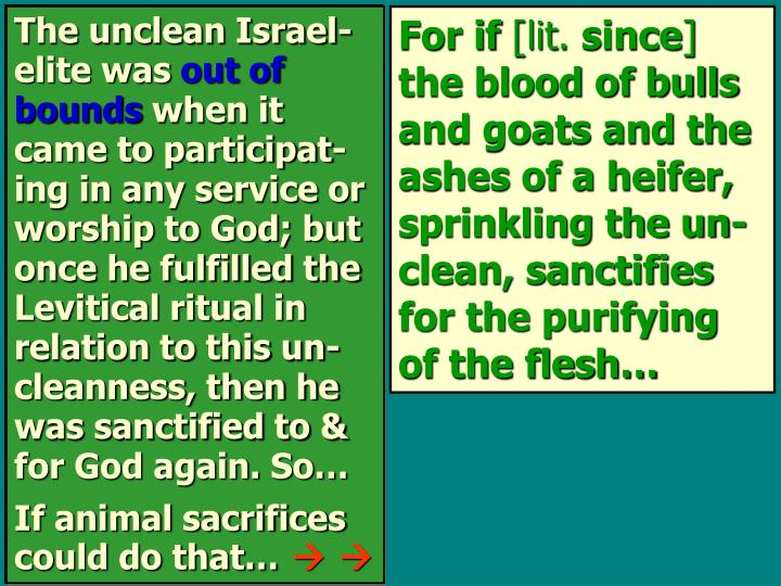 The unclean Israel-elite was