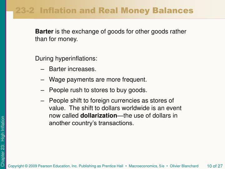 23-2  Inflation and Real Money Balances