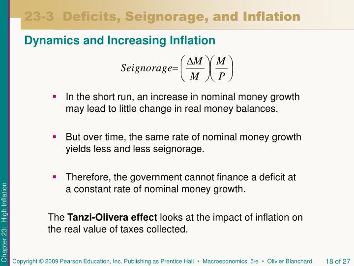 23-3  Deficits, Seignorage, and Inflation
