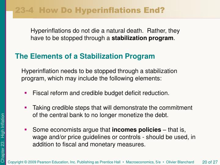 23-4  How Do Hyperinflations End?