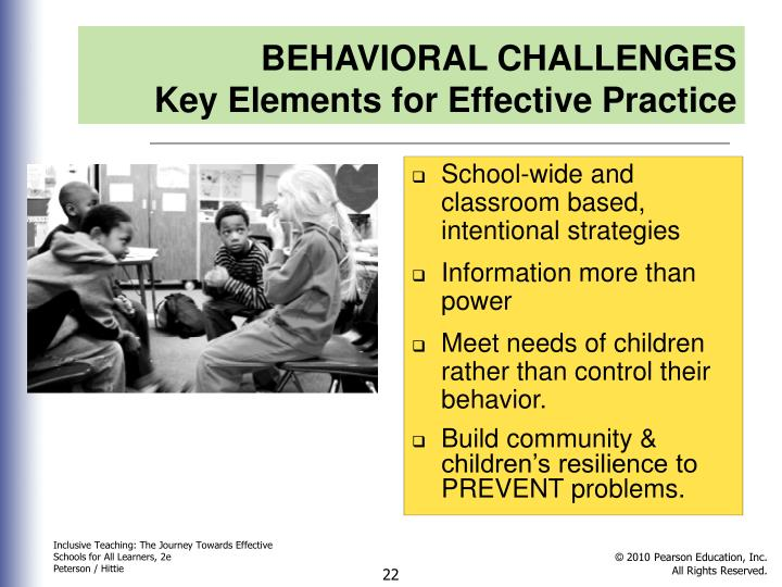 BEHAVIORAL CHALLENGES