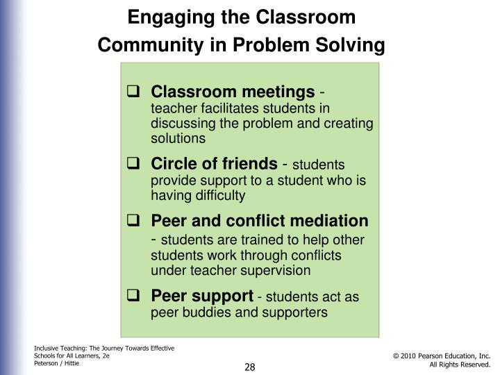 Engaging the Classroom Community in Problem Solving