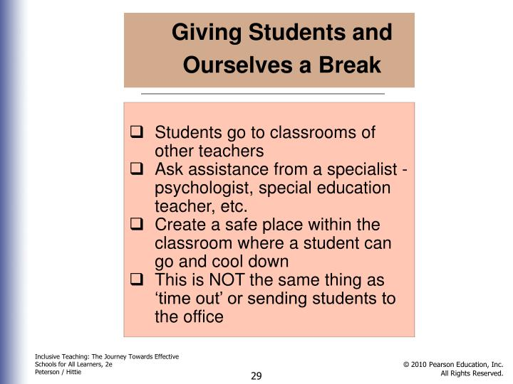 Giving Students and Ourselves a Break