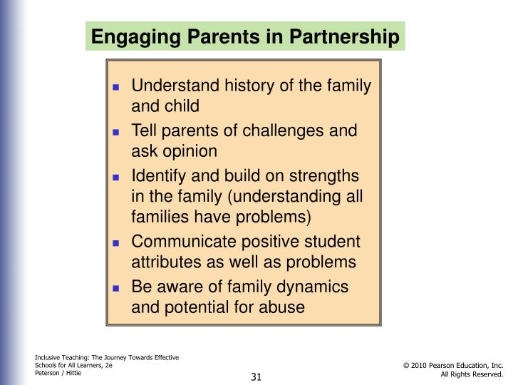 Engaging Parents in Partnership