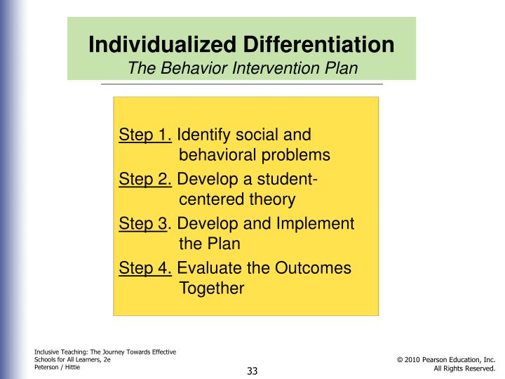 Individualized Differentiation