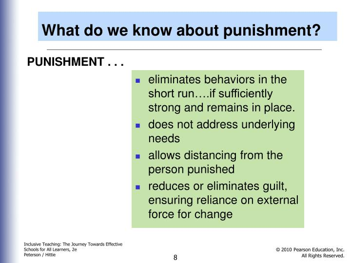 What do we know about punishment?