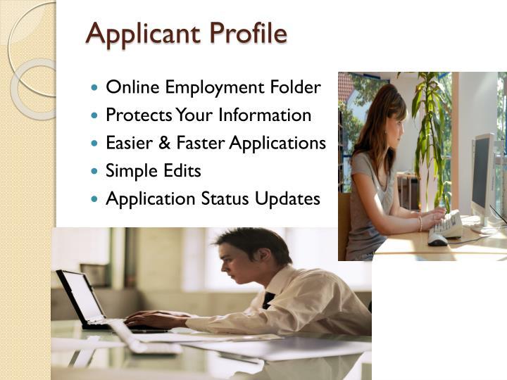 Applicant Profile