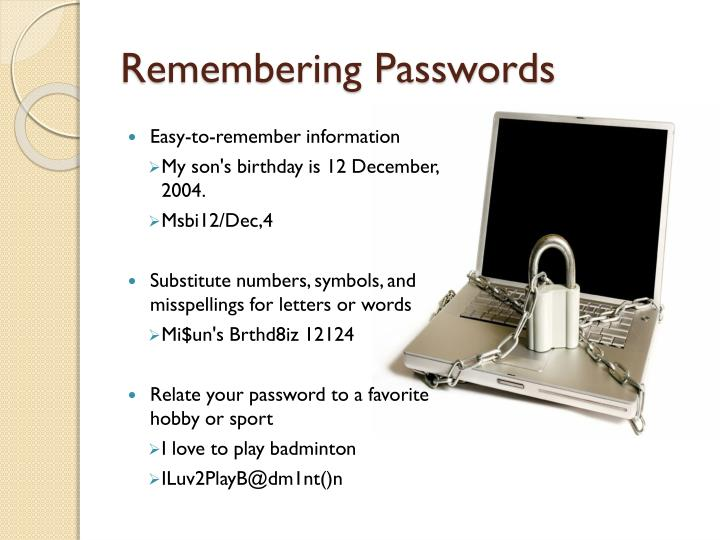 Remembering Passwords