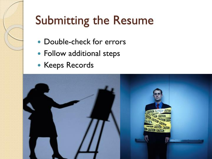 Submitting the Resume