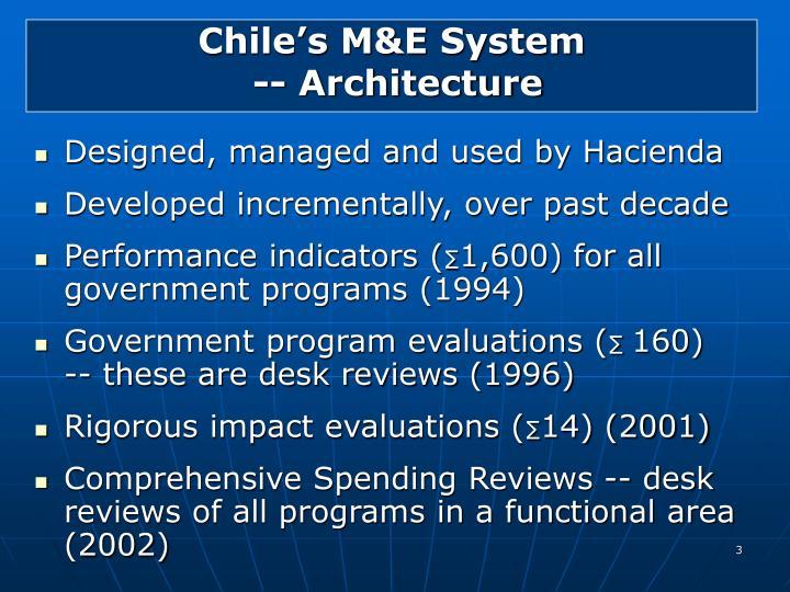 Chile's M&E System
