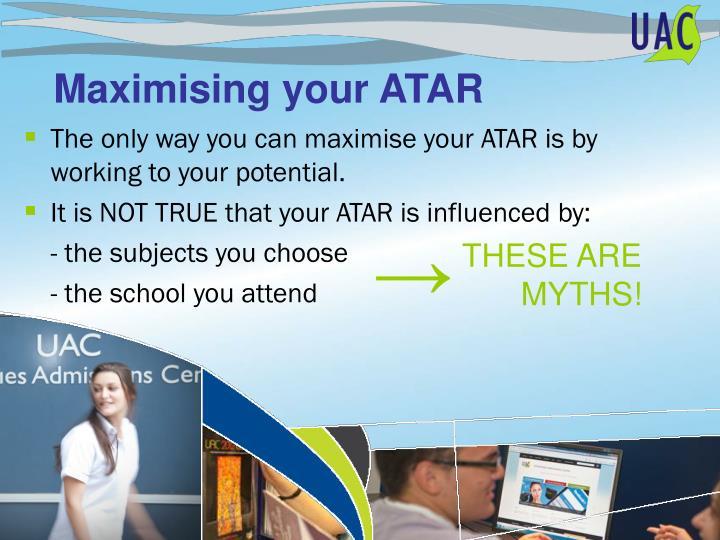 Maximising your ATAR