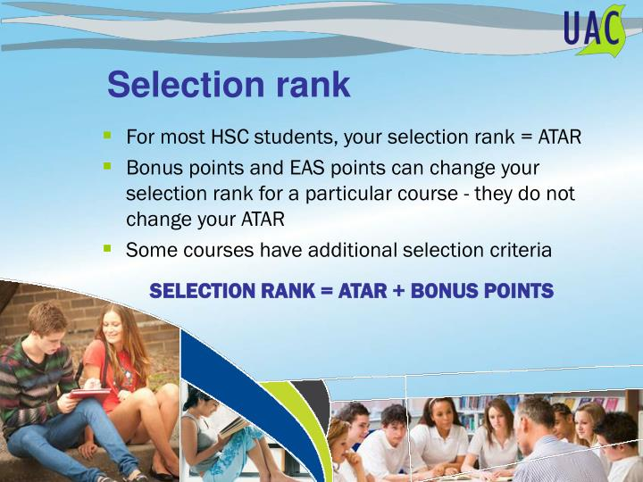 Selection rank