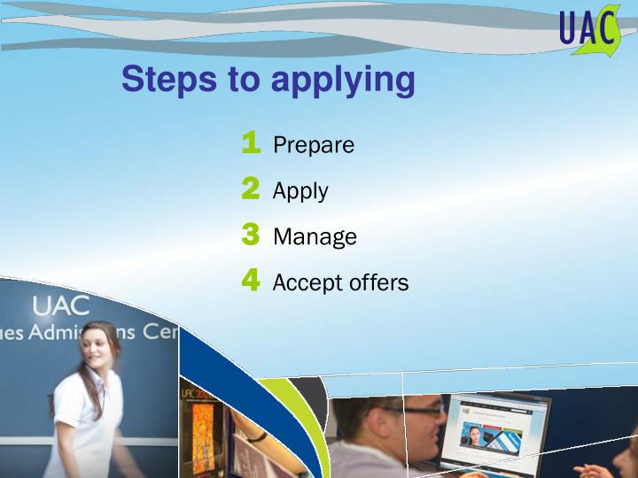 Steps to applying