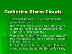gathering storm clouds