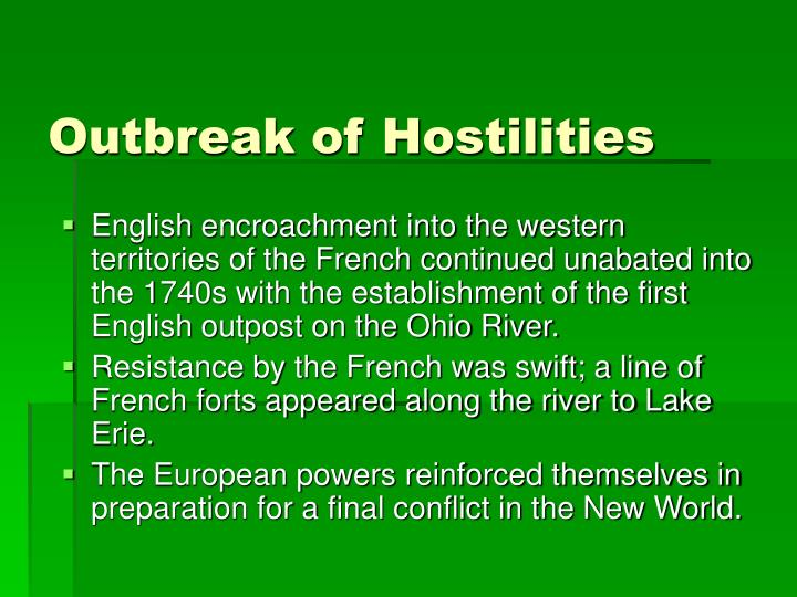 Outbreak of Hostilities