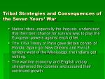 tribal strategies and consequences of the seven years war