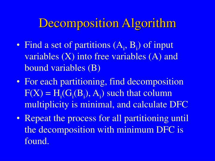 Decomposition Algorithm