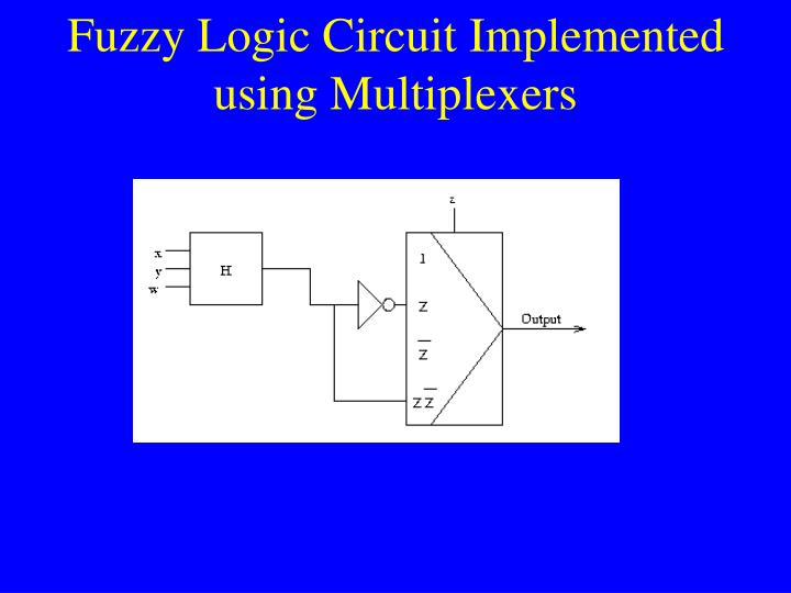 Fuzzy Logic Circuit Implemented using Multiplexers