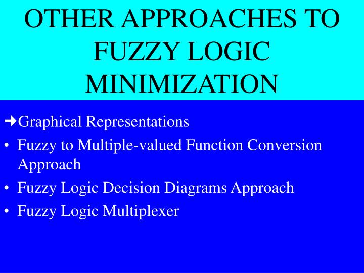 OTHER APPROACHES TO FUZZY LOGIC MINIMIZATION