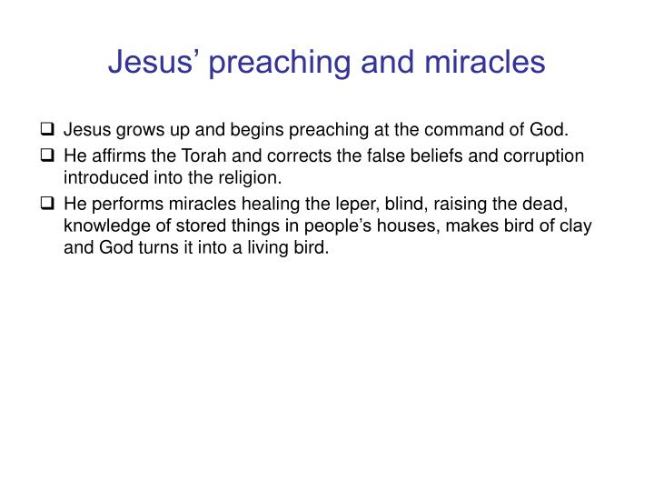 Jesus' preaching and miracles