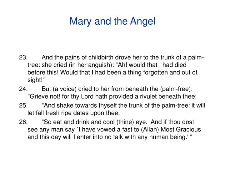 Mary and the Angel