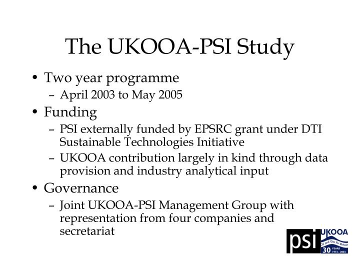 The ukooa psi study
