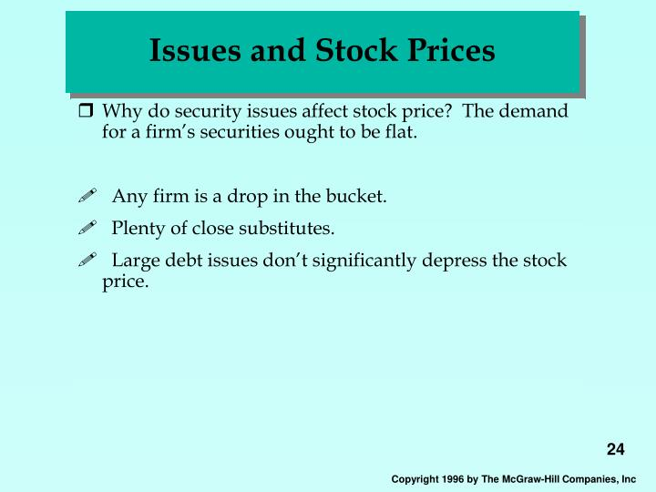 Issues and Stock Prices