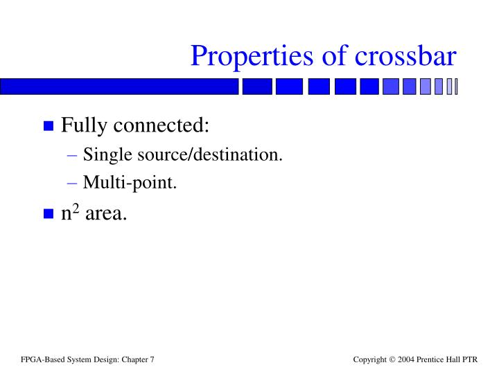 Properties of crossbar