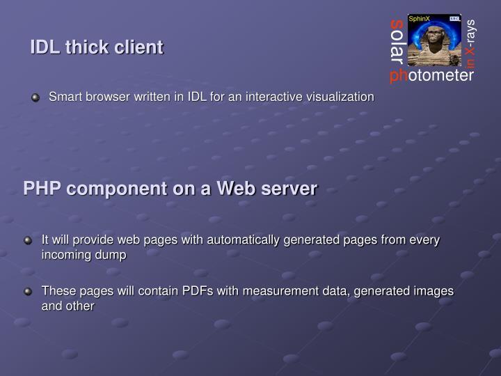IDL thick client