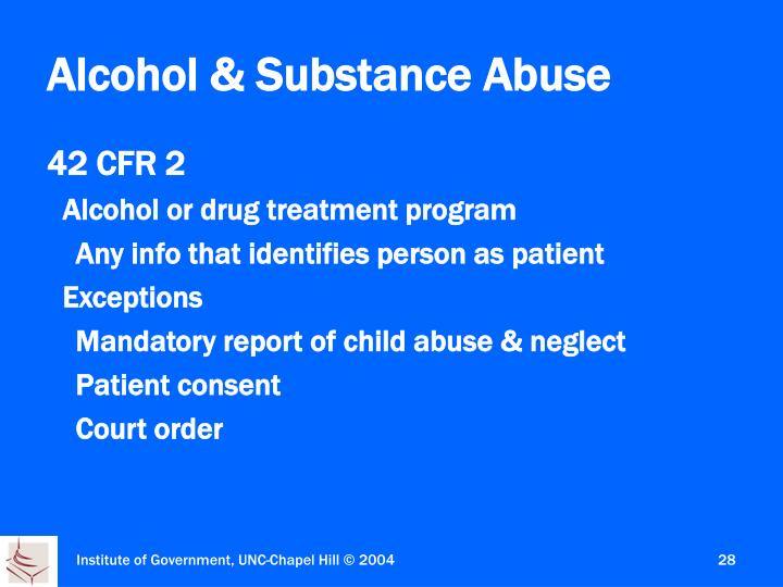 Alcohol & Substance Abuse