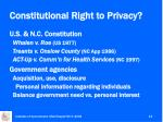 constitutional right to privacy