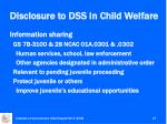 disclosure to dss in child welfare1