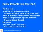 public records law gs 132 1