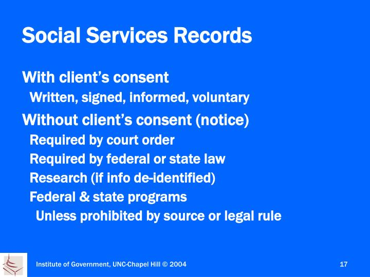 Social Services Records
