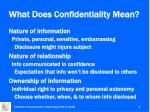 what does confidentiality mean