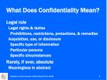 what does confidentiality mean1