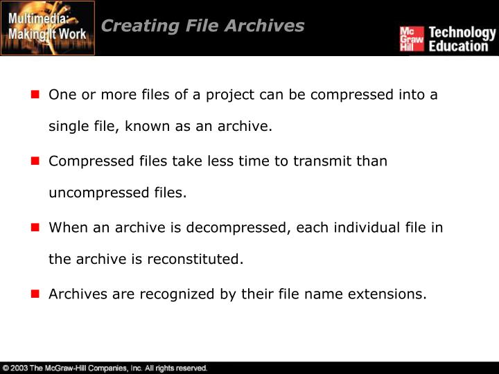 Creating File Archives