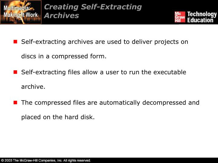 Creating Self-Extracting Archives