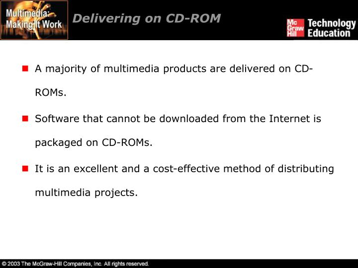 Delivering on CD-ROM