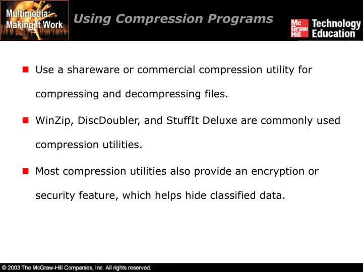 Using Compression Programs
