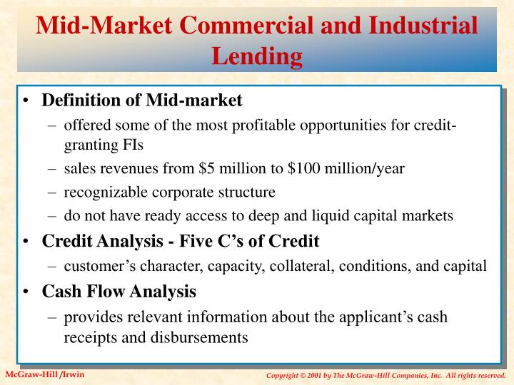 Mid-Market Commercial and Industrial Lending