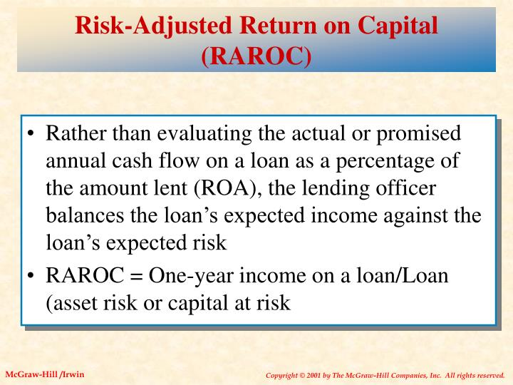 Risk-Adjusted Return on Capital (RAROC)